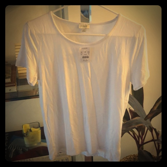 J. Crew Tops - J. Crew white tee NEW w tags